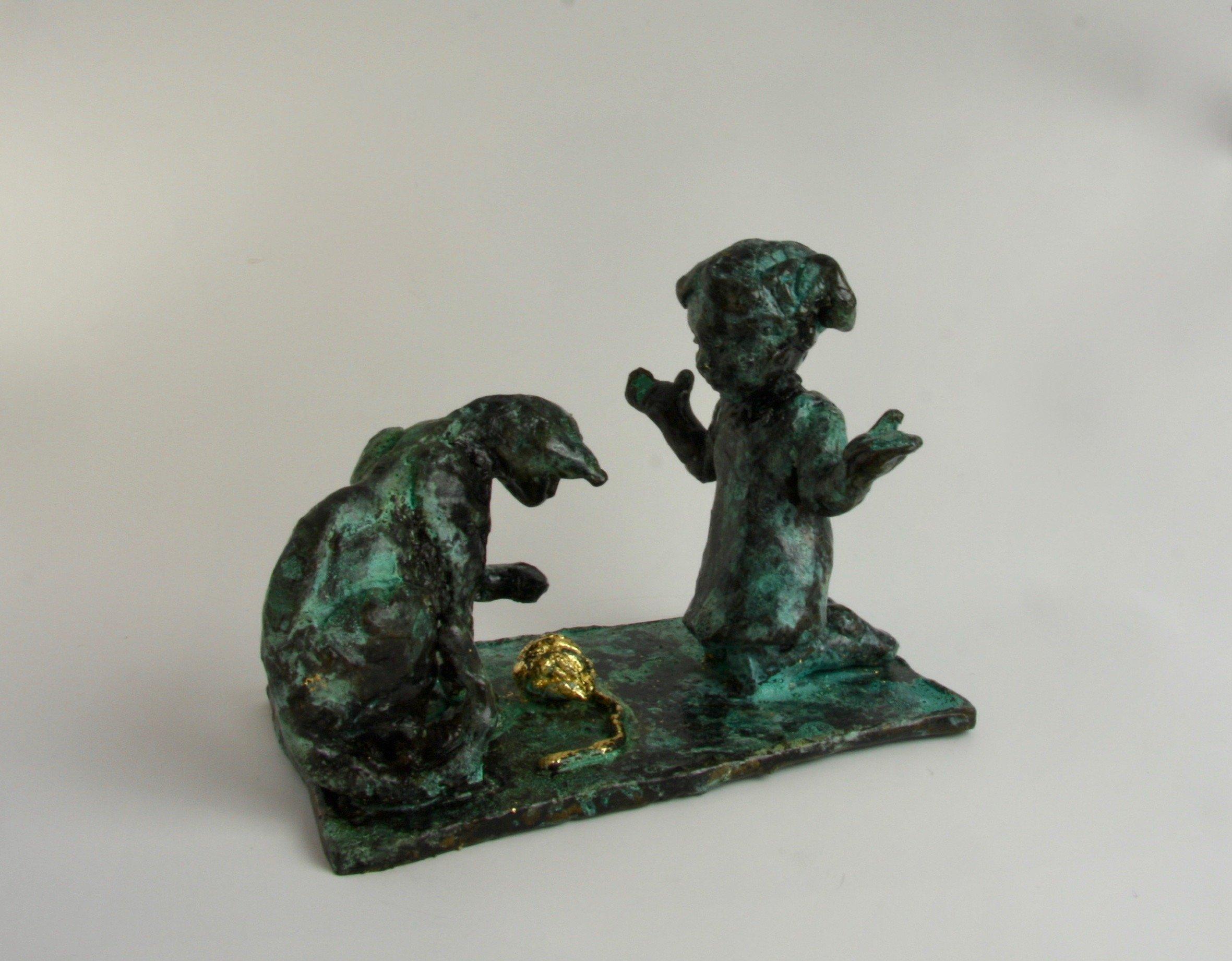 kat leg bronze sculpture